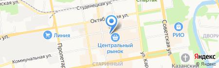 Магазин спортивных товаров на Коммунальной на карте Тамбова