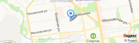 Детский сад №70 на карте Тамбова