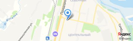 Магазин овощей и фруктов на ул. Центральный микрорайон на карте Строителя
