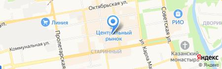 Разгуляйка на карте Тамбова