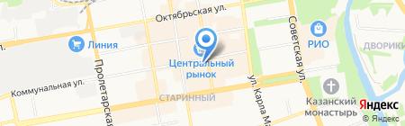 Катушка на карте Тамбова