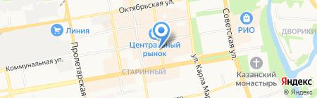 Апрель на карте Тамбова