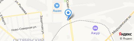 АЗС Лукойл на карте Тамбова