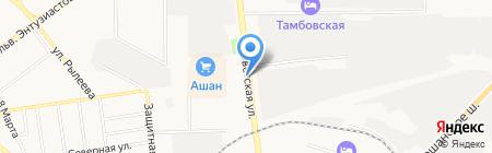 Сеть платежных терминалов на карте Тамбова