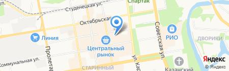 Столица на карте Тамбова