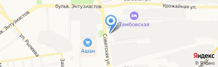 Мировые судьи Октябрьского района на карте Тамбова