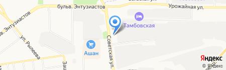 Вектор на карте Тамбова