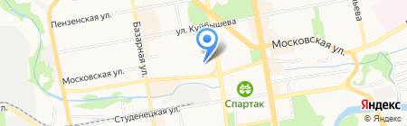 Продовольственный магазин на Московской на карте Тамбова