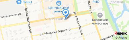 Яселька на карте Тамбова