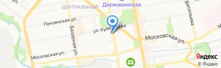 Джайв на карте Тамбова