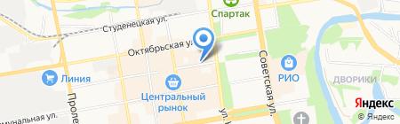 Азимут на карте Тамбова