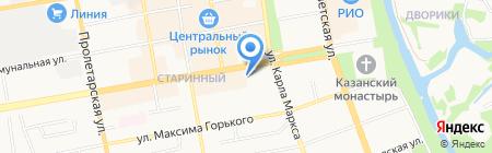Чердак на карте Тамбова