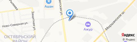 Бетоносмесительный узел №1 на карте Тамбова