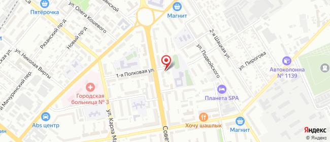 Карта расположения пункта доставки Тамбов Советская в городе Тамбов