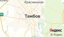 Гостиницы города Тамбов на карте