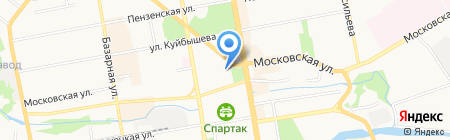 Арлекин на карте Тамбова