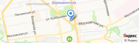 Прокуратура Октябрьского района г. Тамбова на карте Тамбова