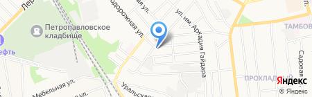 Продовольственный магазин в Балашовском 1-м переулке на карте Тамбова