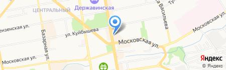Лето Банк на карте Тамбова