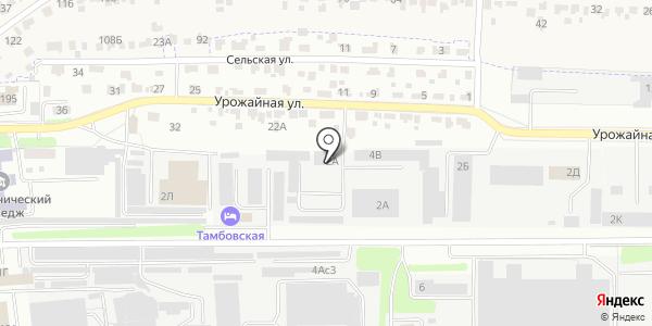 Новолядинский Бетон. Схема проезда в Тамбове