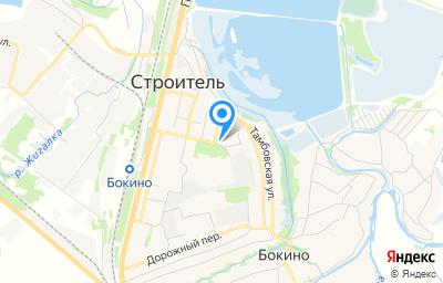 Местоположение на карте пункта техосмотра по адресу Тамбовская обл, Тамбовский р-н, п Строитель, мкр Северный, стр 49