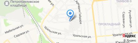 Маячок на карте Тамбова