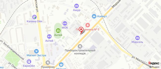 Карта расположения пункта доставки Тамбов Моршанское в городе Тамбов