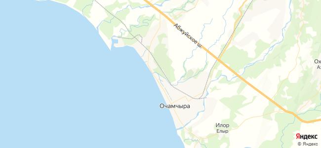 Базы отдыха Очамчиры - объекты на карте