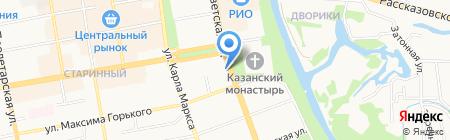 Тамбовский областной институт повышения квалификации работников образования на карте Тамбова