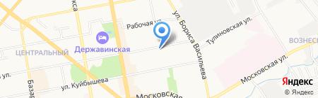 Магазин хозтоваров на Пензенской на карте Тамбова