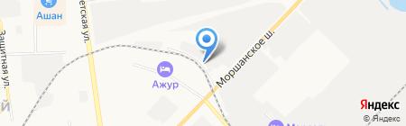Магазин спецодежды на Моршанском шоссе на карте Тамбова