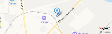 Автомойка на Моршанском шоссе на карте Тамбова
