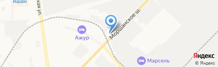 Продуктовый магазин на Моршанском шоссе на карте Тамбова