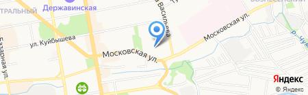 Вознесенский женский монастырь на карте Тамбова