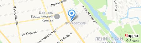 Комсомолец на карте Тамбова