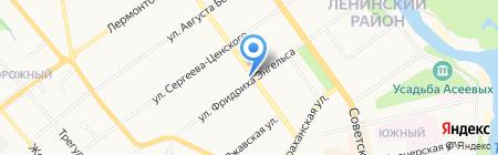 Продуктовый магазин на ул. Фридриха Энгельса на карте Тамбова