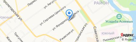 Жилищно-эксплуатационный комплекс 1 на карте Тамбова