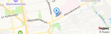 Тамбовская инфекционная клиническая больница на карте Тамбова