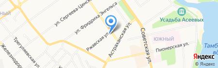Невские двери на карте Тамбова