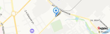 Шиномонтажная мастерская на ул. Чичканова на карте Тамбова