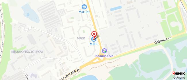 Карта расположения пункта доставки Тамбов Астраханская в городе Тамбов