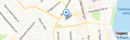 Отделение почтовой связи №12 на карте Тамбова