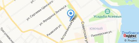 ВБРР на карте Тамбова