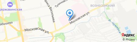 Тамбовская областная клиническая больница им. В.Д. Бабенко на карте Тамбова