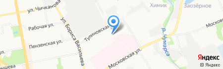 Тамбовская психиатрическая клиническая больница на карте Тамбова