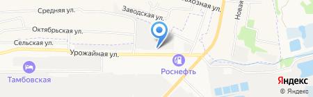 Райский-Город на карте Тамбова