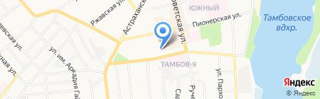 Общежитие на карте Тамбова