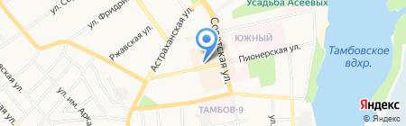 Силуэт на карте Тамбова