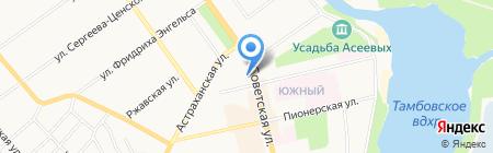Окта на карте Тамбова