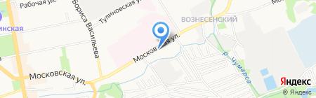 Автостоянка на Московской на карте Тамбова